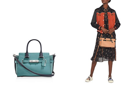 COACH Swagger 27 Colorblock Mixed Leather & Suede Satchel - Bloomingdale's_2